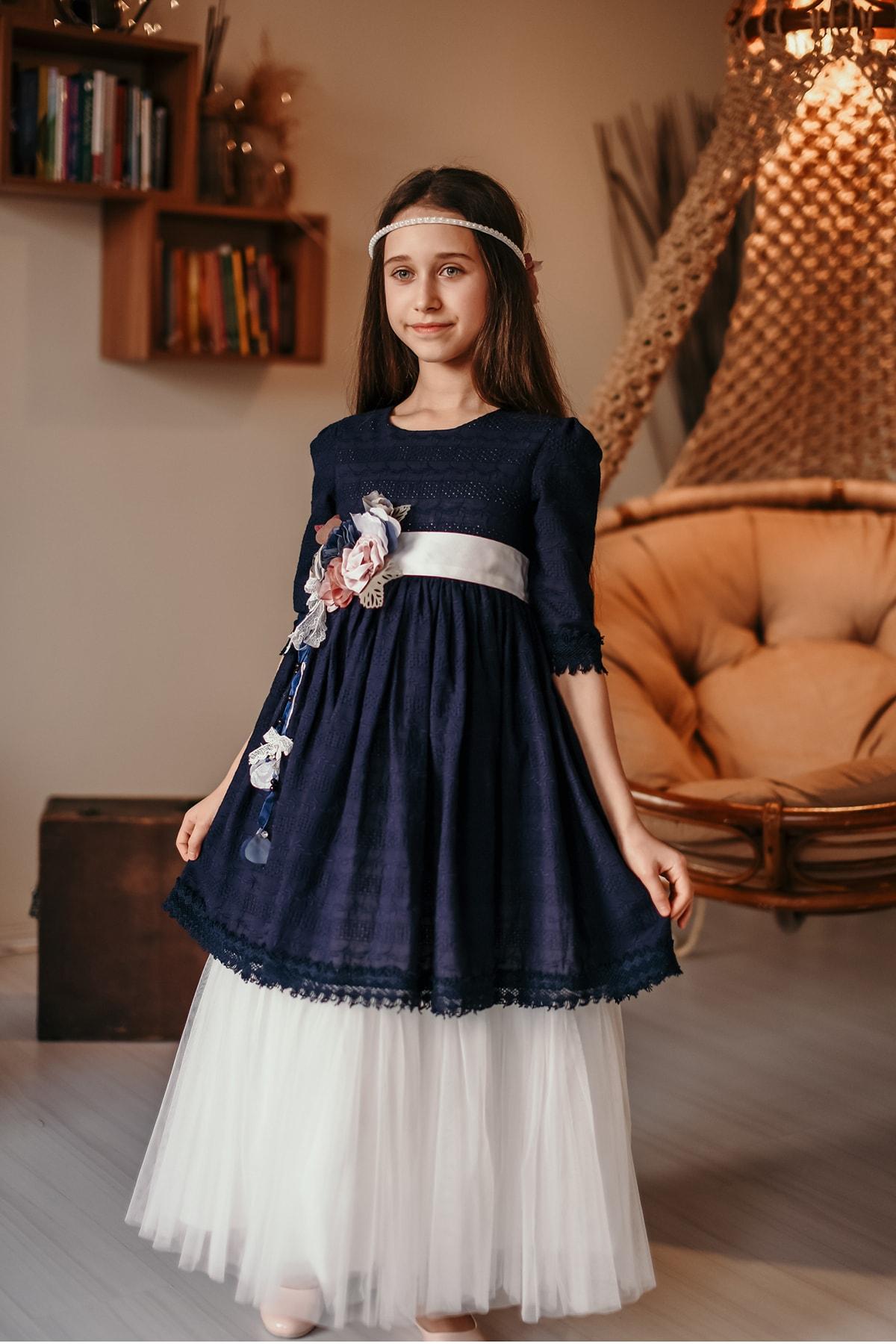 سفارش اینترنتی لباس مجلسی فانتزی برند MIALORA EXCLUSIVE رنگ لاجوردی کد ty41787931