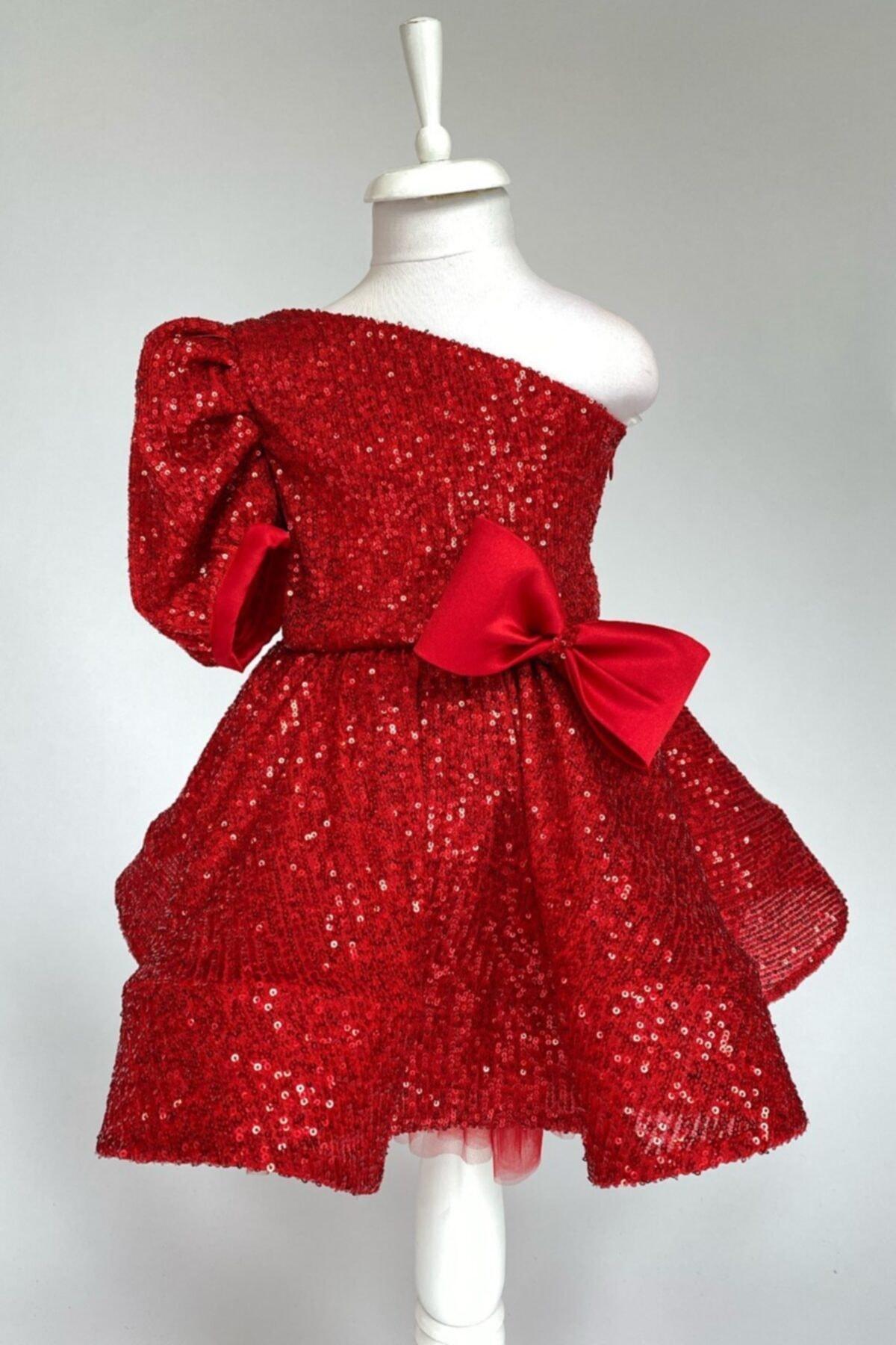 فروش پستی لباس مجلسی دخترانه ترک برند zühre balaban رنگ قرمز ty46113974