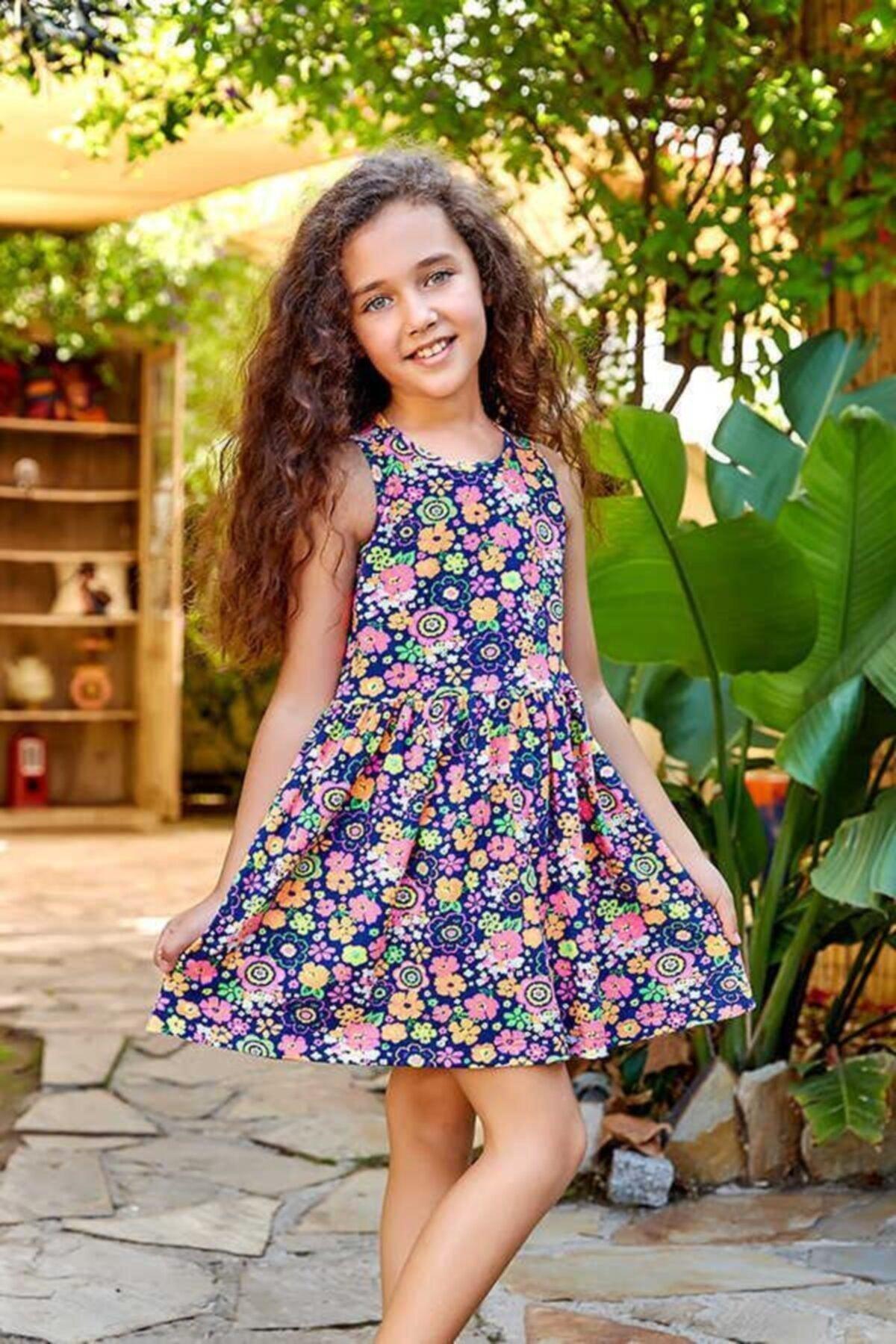 ست لباس دخترانه 2021 برند Berrak رنگ لاجوردی کد ty46768661