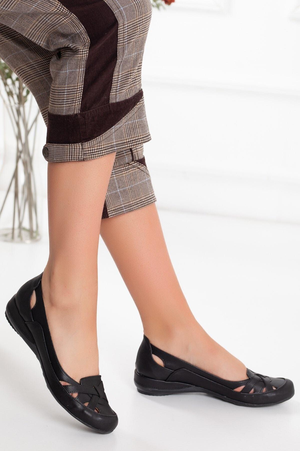کفش تخت دخترانه قیمت مناسب برند Dilimler Ayakkabı رنگ مشکی کد ty47043014