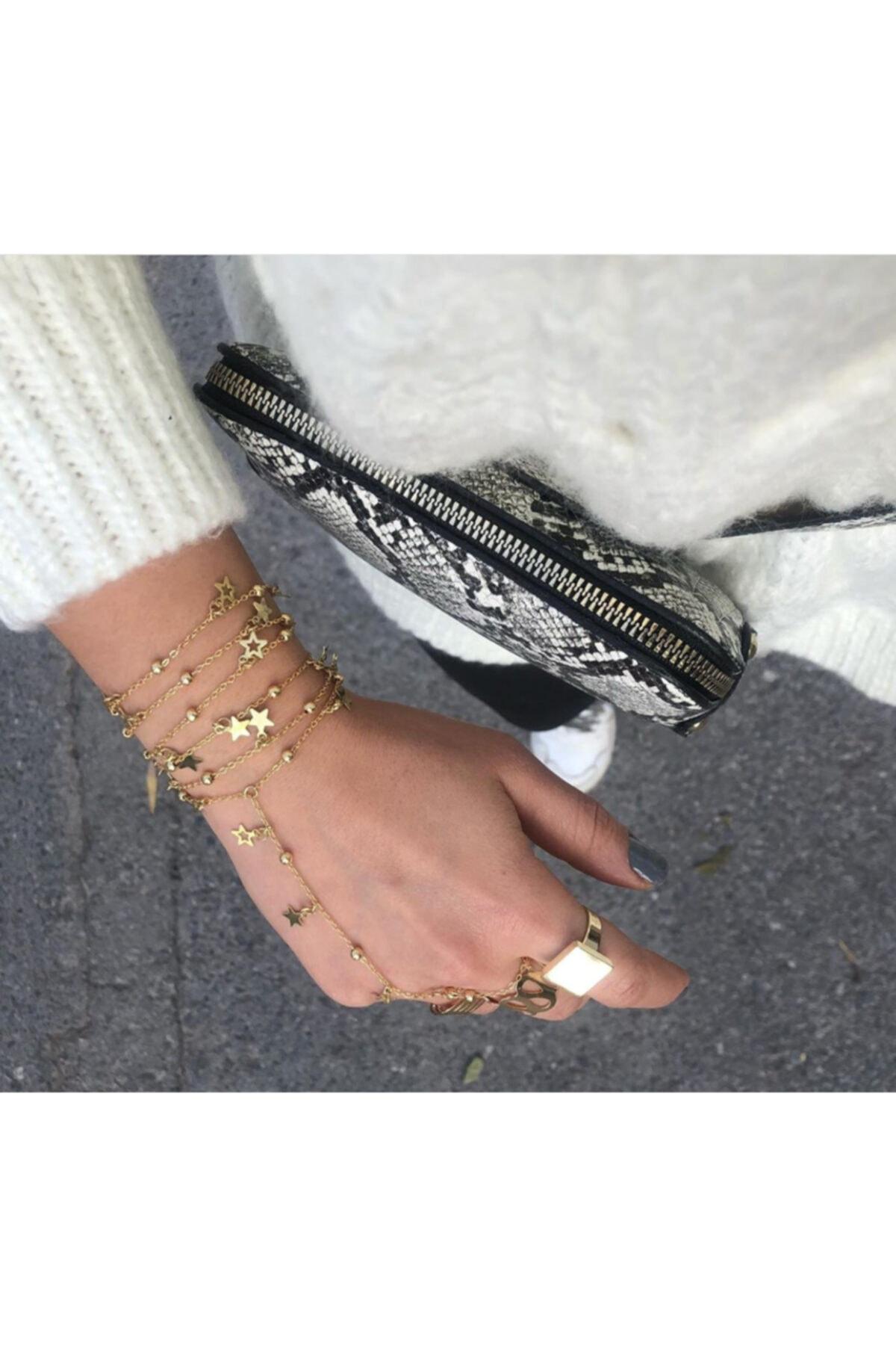 خرید اسان دستبند انگشتی زنانه زیبا برند pop up store رنگ طلایی ty49074063