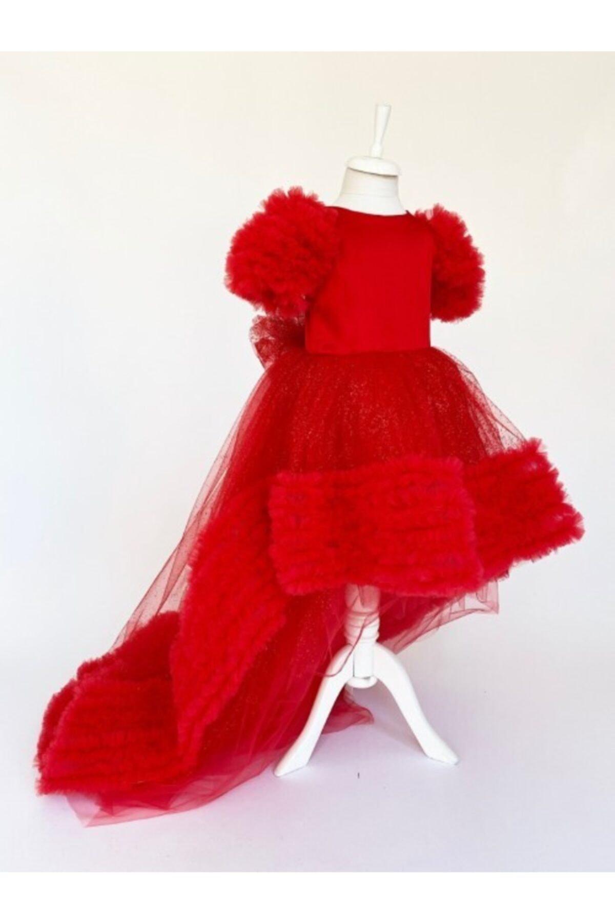 فروش نقدی لباس مجلسی دخترانه خاص برند zühre balaban رنگ قرمز ty51614506