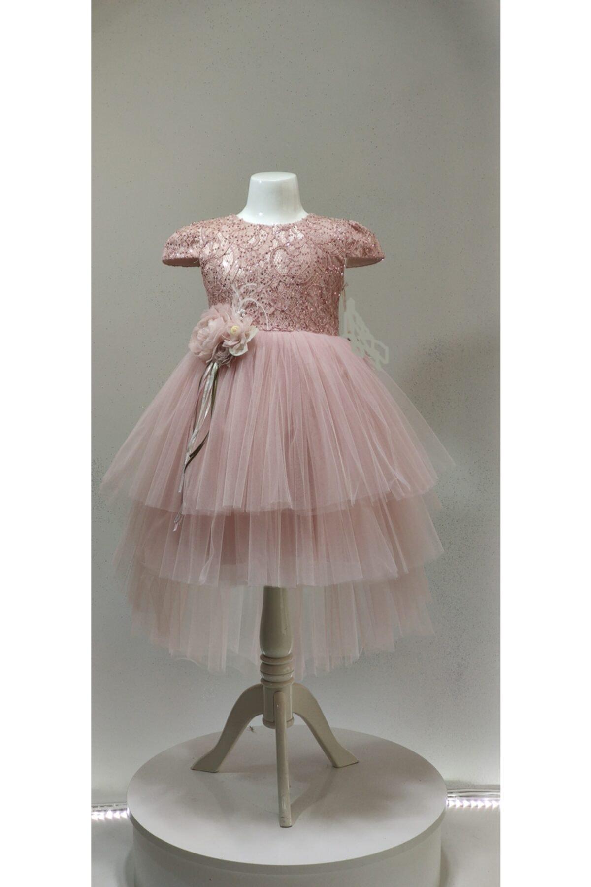 لباس مجلسی دخترانه شیک برند pink girls رنگ صورتی ty56320108