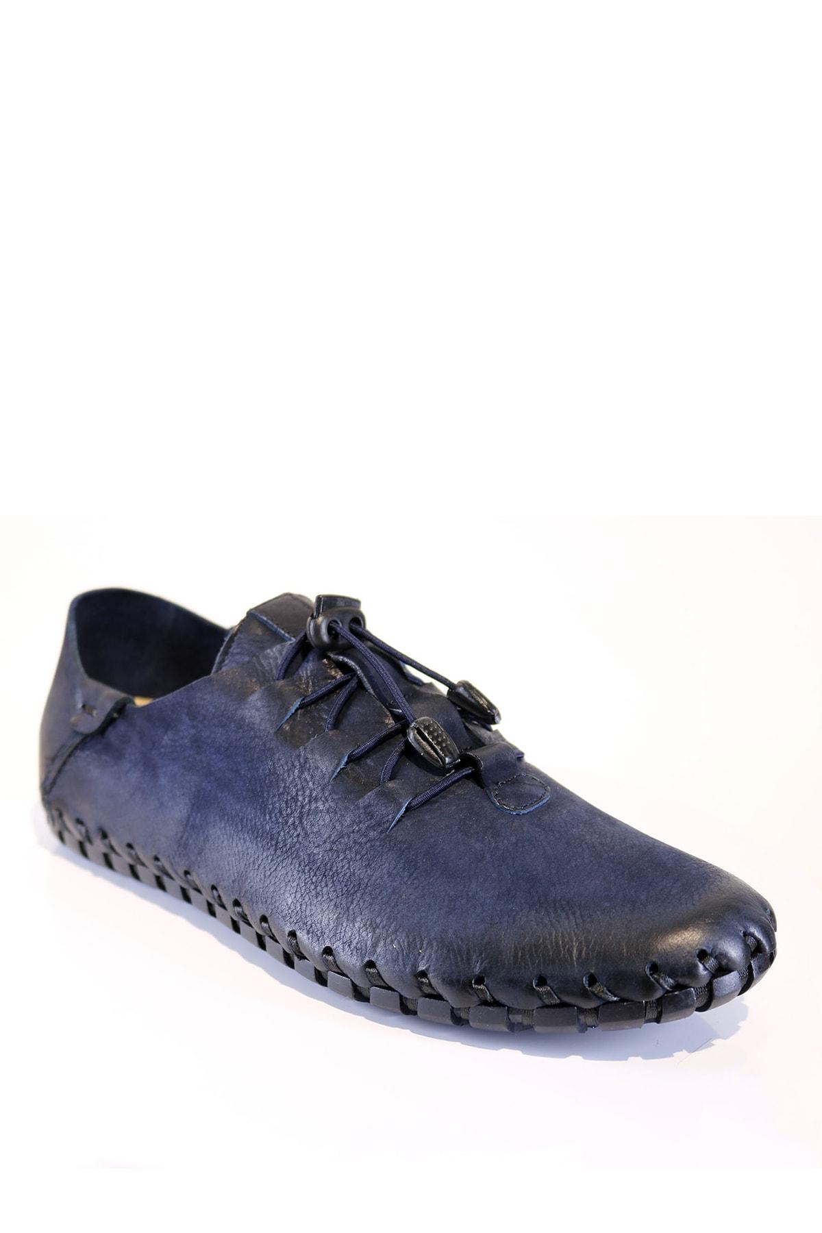 کفش کلاسیک مردانه مدل دار برند Onemarka رنگ لاجوردی کد ty59280797