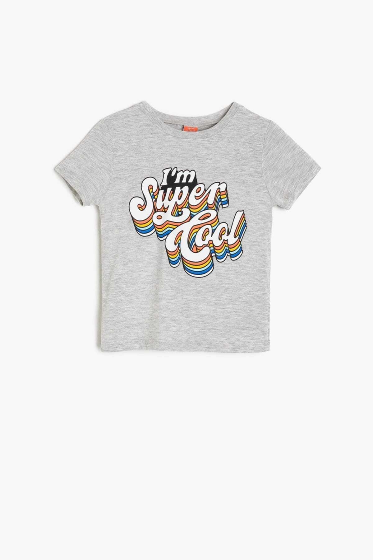 تیشرت نوزاد پسرانه خاص برند Koton Kids رنگ نقره ای کد ty6140321