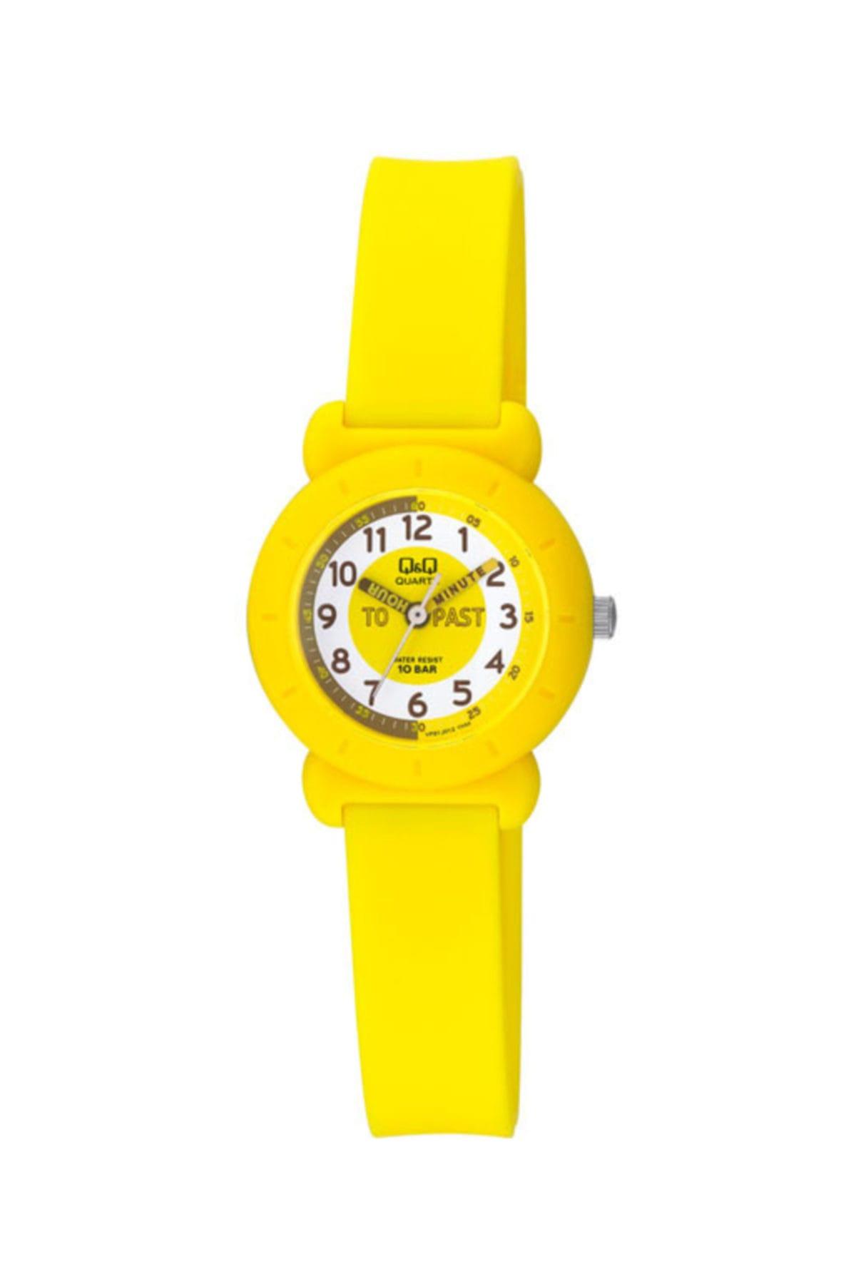 ساعت بچه گانه مدل 2021 برند Q&Q رنگ زرد ty6479762
