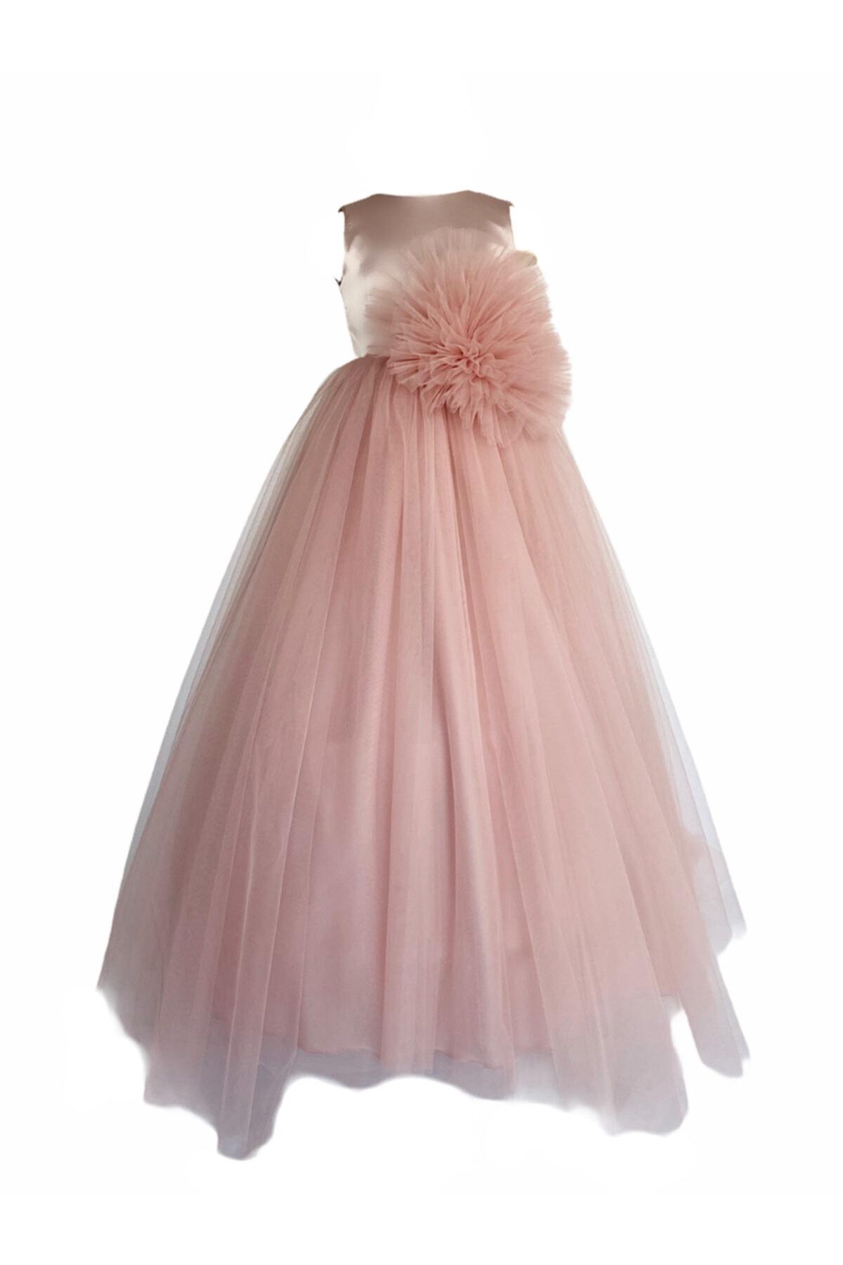 لباس مجلسی دخترانه ترک جدید برند zühre balaban رنگ صورتی ty74877740