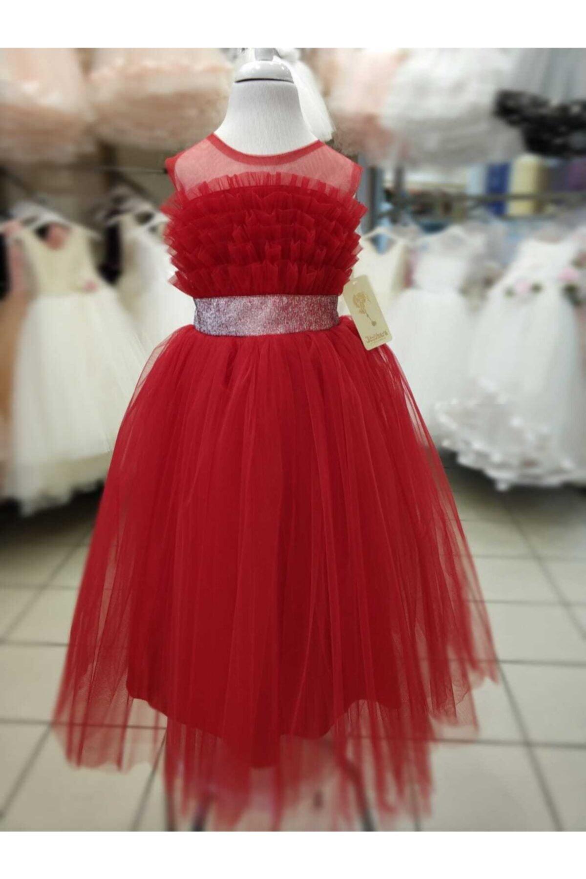 سفارش انلاین لباس مجلسی دخترانه ساده برند Pikolet-ta رنگ قرمز ty76734426