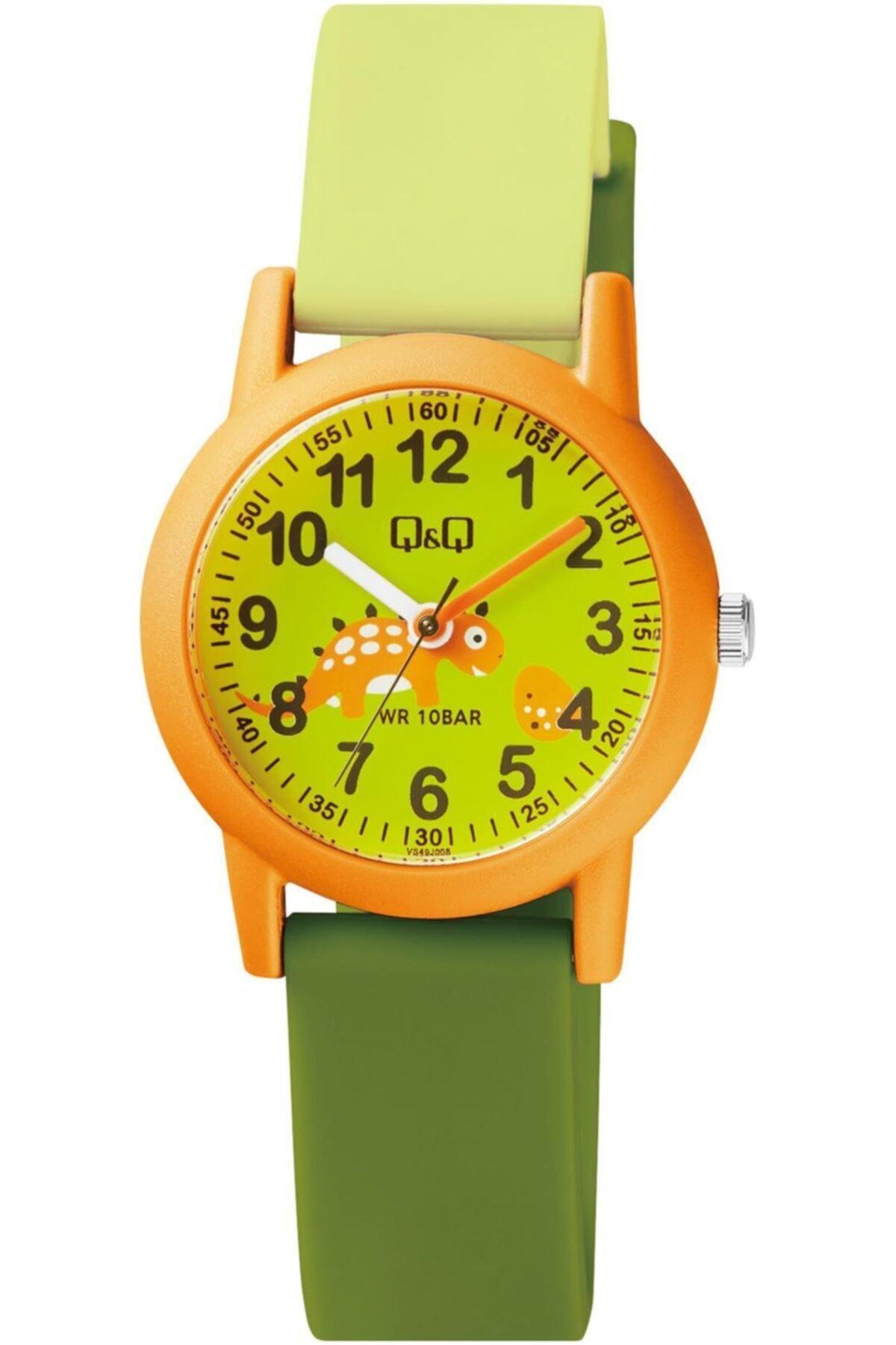 خرید اینترنتی ساعت بلند برند Q&Q رنگ طلایی ty79611712