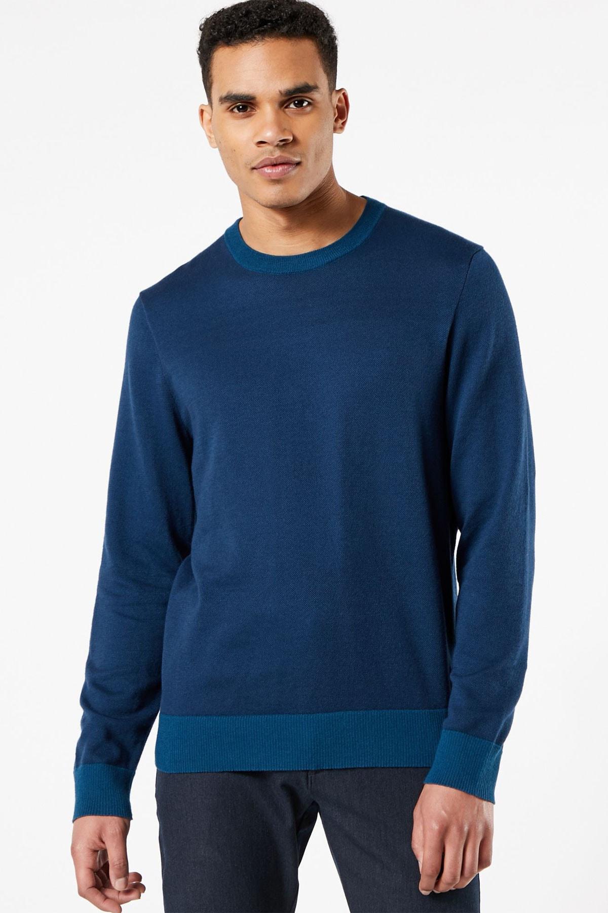 خرید نقدی پلیور بافتی مردانه ترک برند Dockers رنگ آبی کد ty83182181