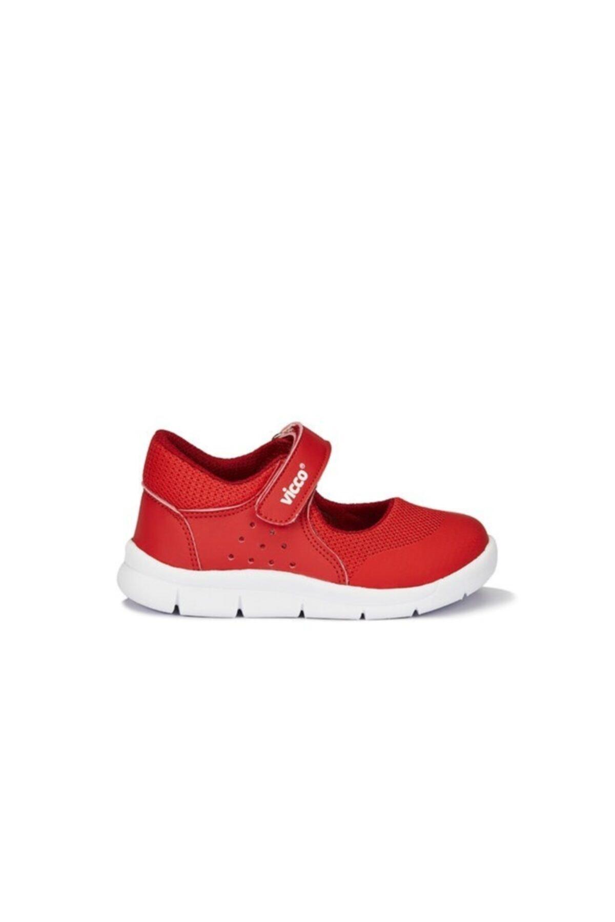 کفش تخت نوزاد دختر پارچه ارزانی برند Vicco رنگ قرمز ty85669678