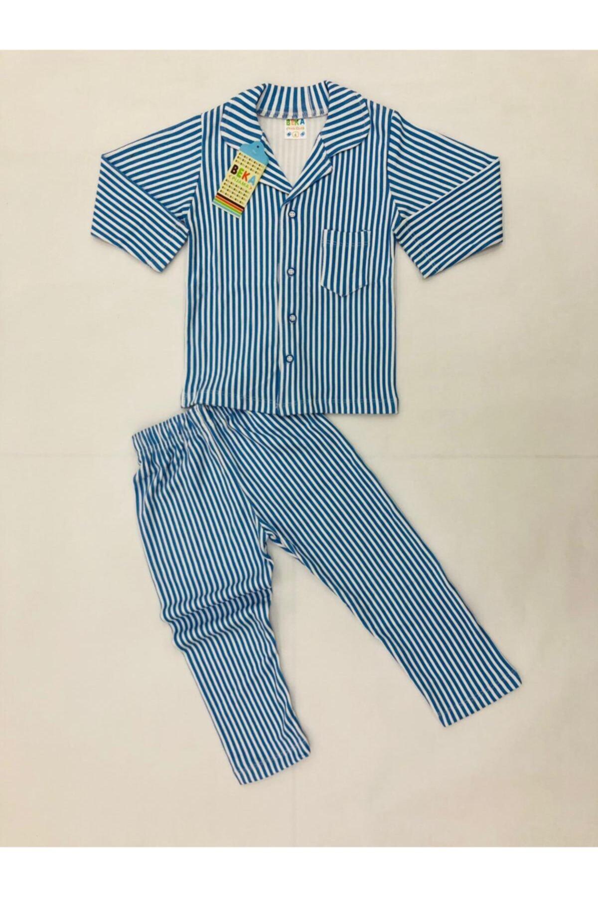 ست راحتی دخترانه اینترنتی برند Beka Pijama رنگ آبی کد ty86998507