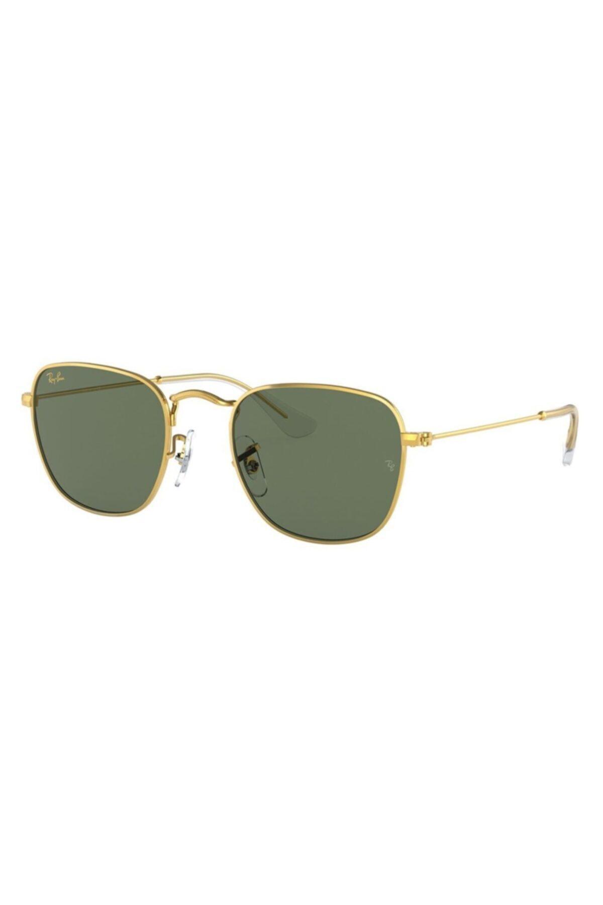 عینک آفتابی طرح دار برند ری بن رنگ طلایی ty92581905