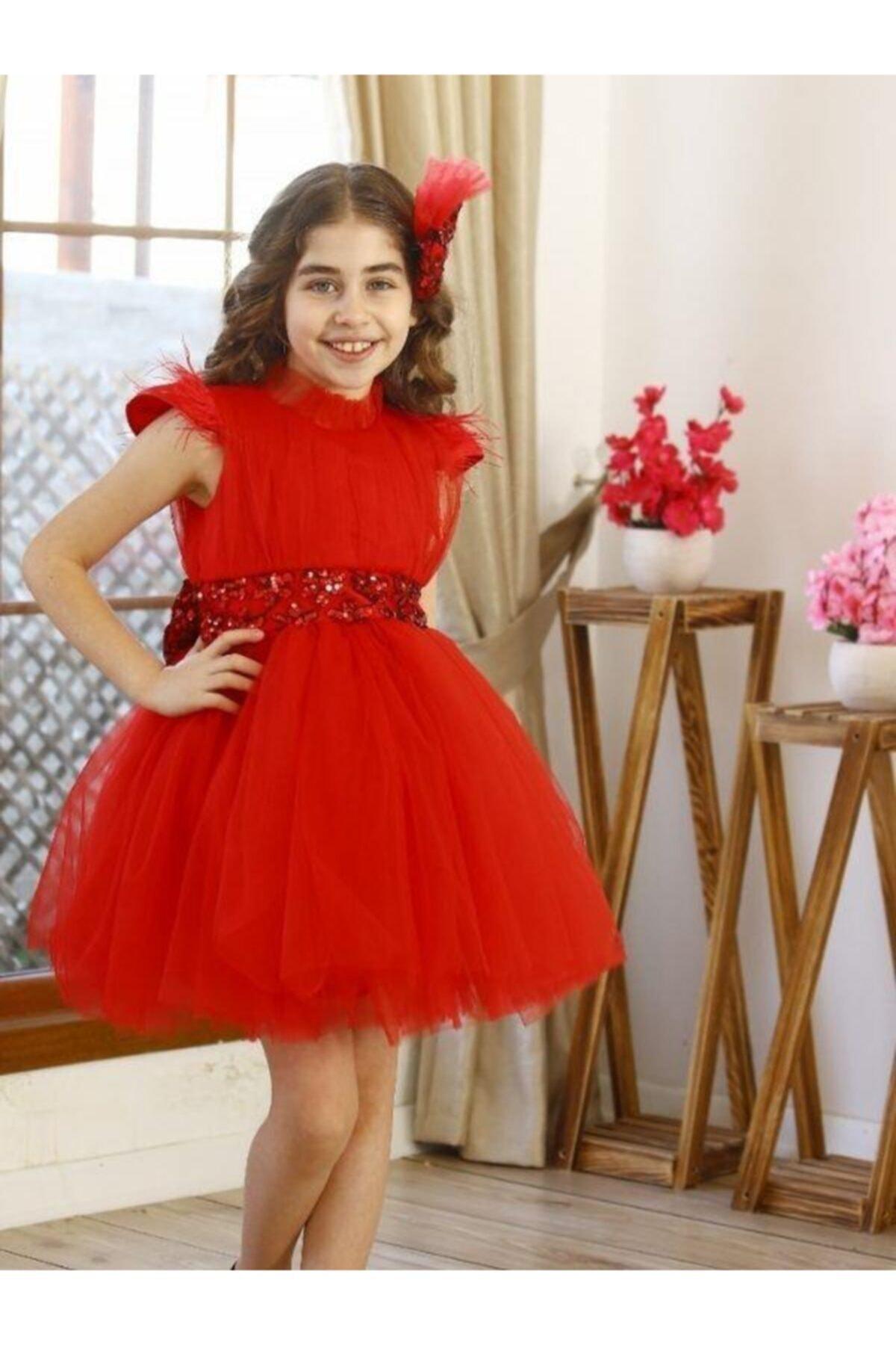 فروش لباس مجلسی دخترانه جدید برند Riccotarz رنگ قرمز ty97013834