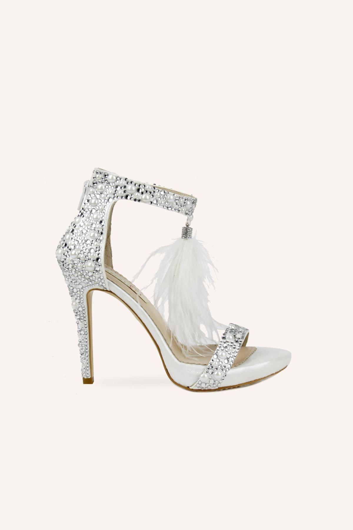 کفش پاشنه بلند مجلسی زنانه شیک برند MARCATELLI کد ty98769135