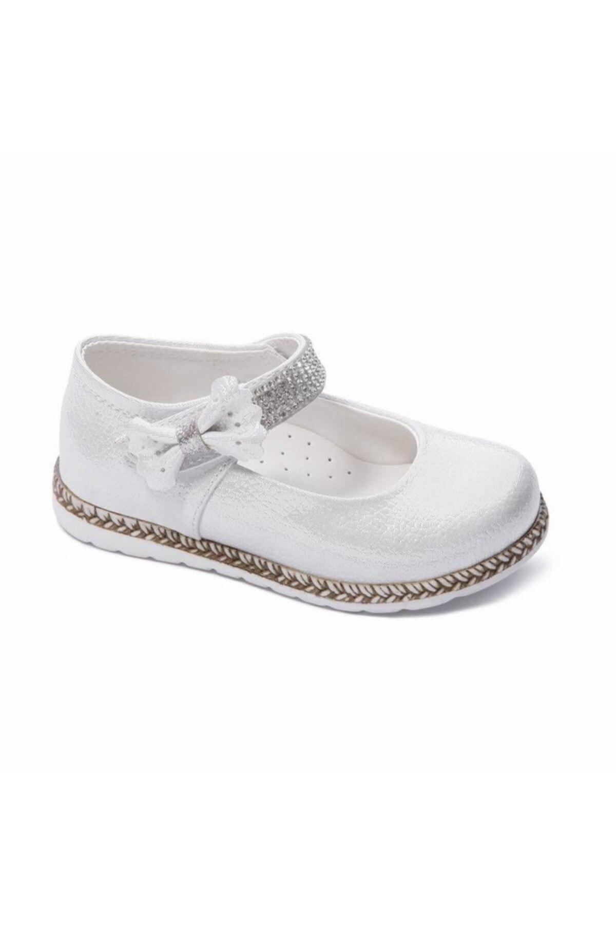 کفش تخت نوزاد دختر شیک مجلسی برند Sanbe رنگ نقره کد ty98836381