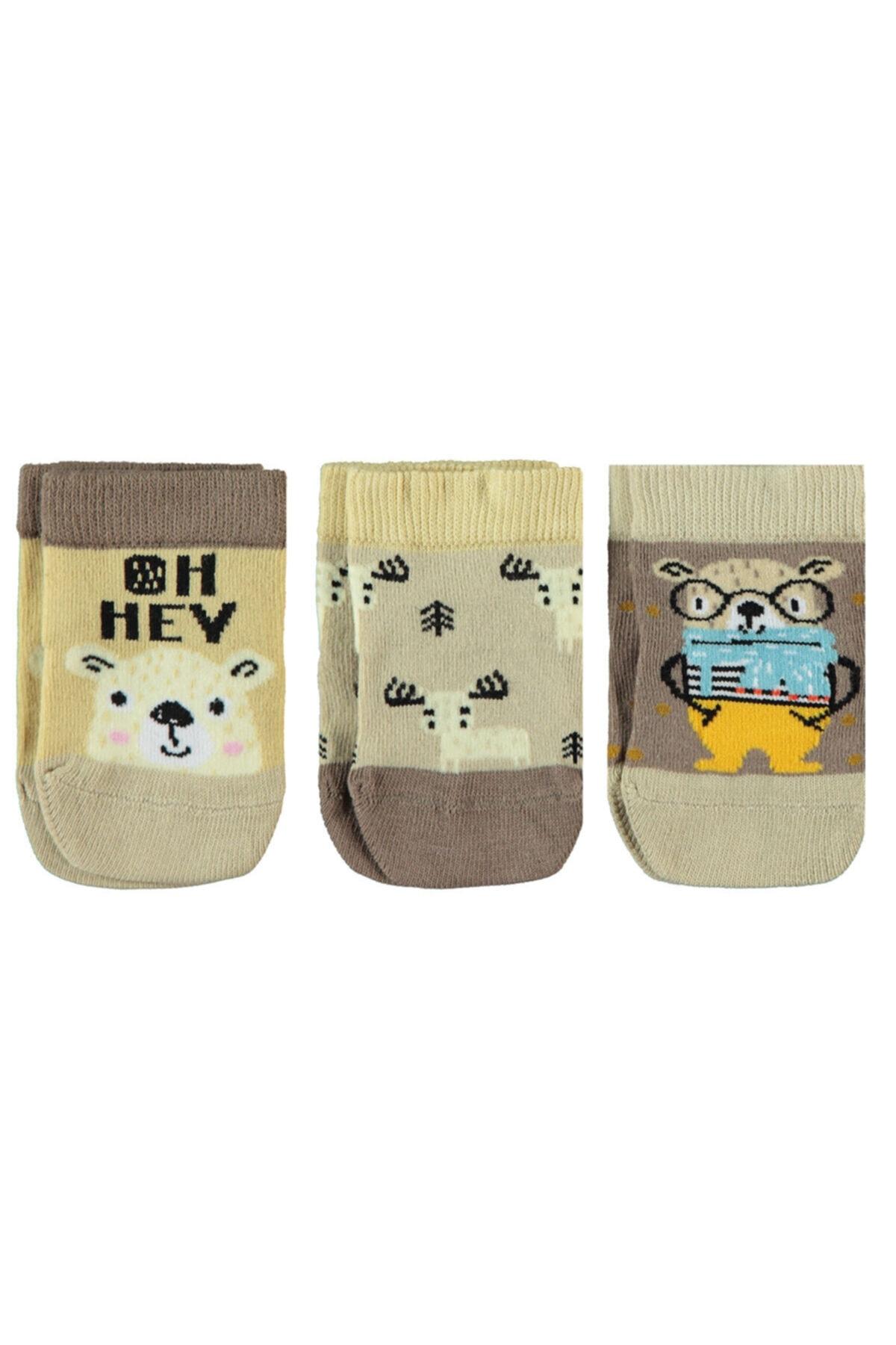 جوراب بچه گانه پسرانه فروشگاه اینترنتی برن Civil Baby رنگ قهوه ای کد ty98867122