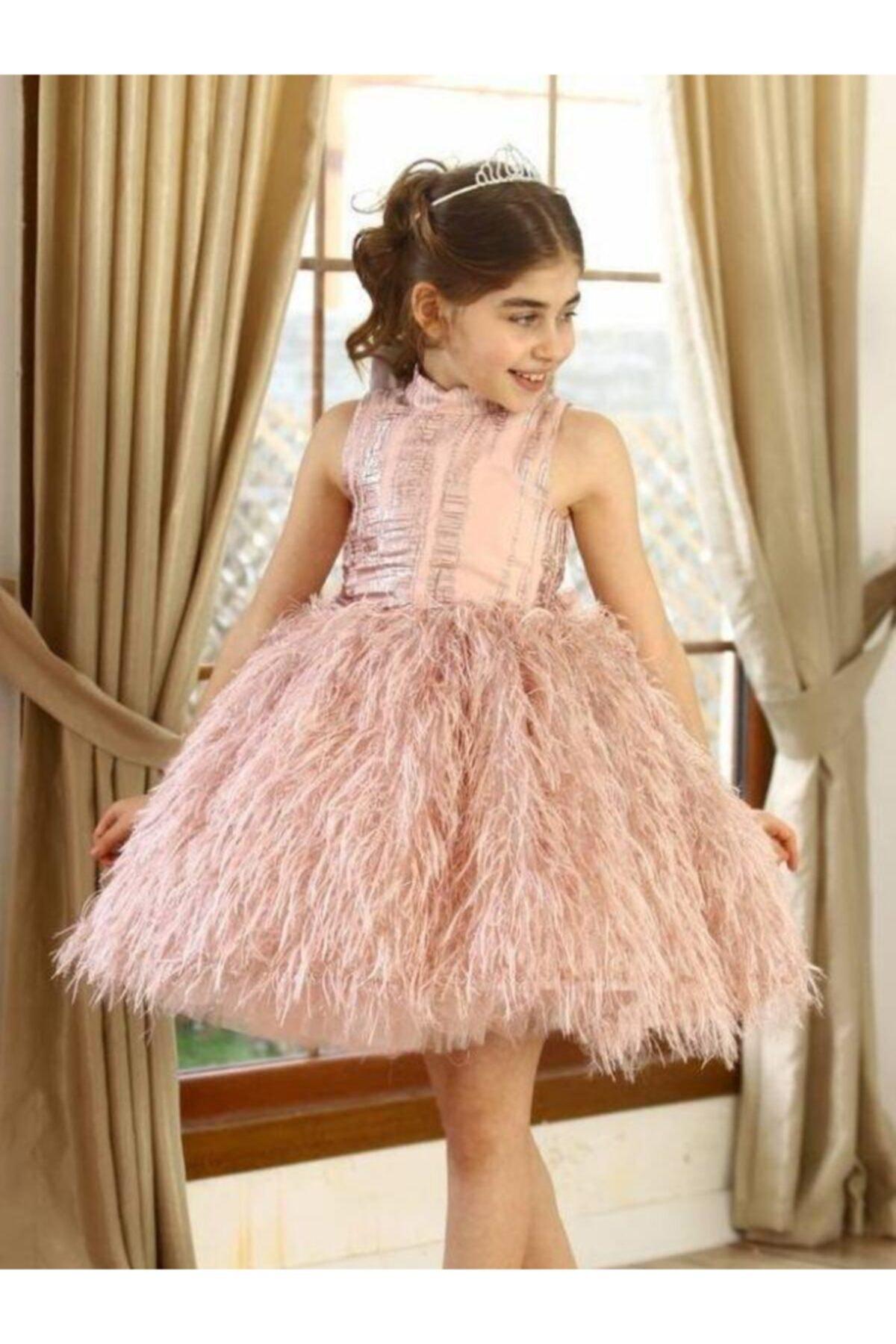 لباس مجلسی دخترانه ترک مجلسی برند Riccotarz رنگ صورتی ty99223655
