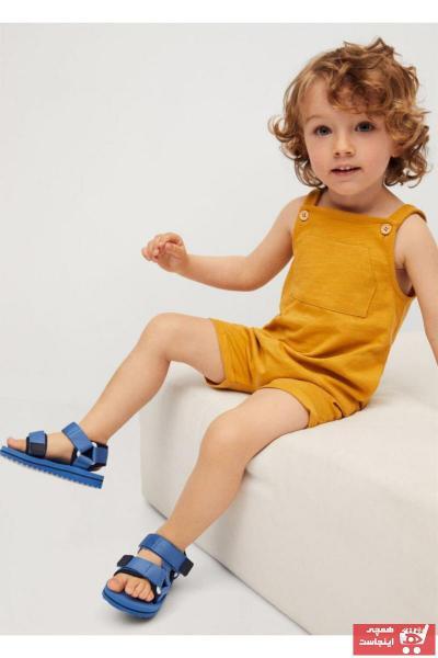 صندل نوزاد پسرانه زیبا برند منگو رنگ آبی کد ty100317022