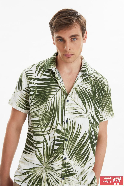 فروش پیراهن مردانه فانتزی برند ترندیول مرد رنگ بژ کد ty100375144