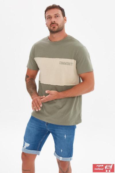 تی شرت مردانه خاص برند ترندیول مرد رنگ خاکی کد ty100381604
