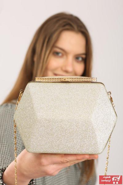 فروشگاه کیف مجلسی زنانه تابستانی برند weem bag رنگ طلایی ty100535291