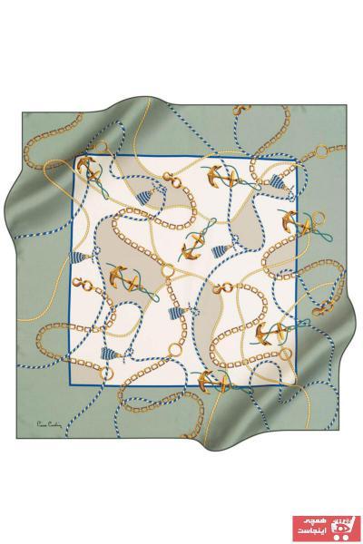 فروش پستی روسری زنانه ترک مارک پیرکاردن رنگ سبز کد ty100789386
