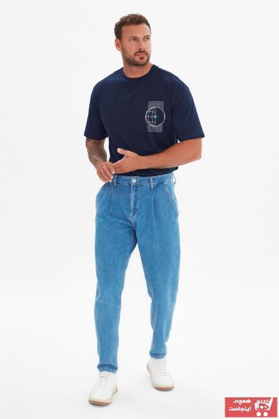 خرید نقدی شلوار جین مردانه  مارک ترندیول مرد رنگ آبی کد ty101066034