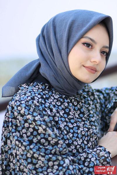 روسری زنانه مدل دار برند AFVENTE رنگ آبی کد ty101450569