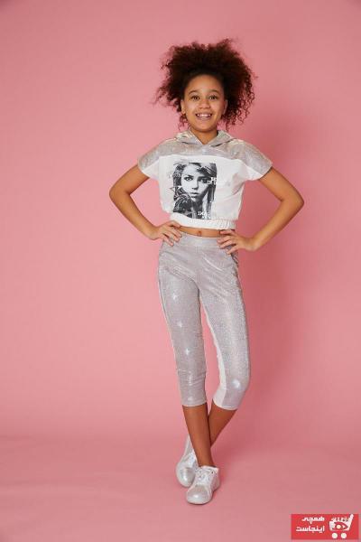 خرید اینترنتی شلوار شلوار دخترانه برند Little Star رنگ نقره ای کد ty101755709