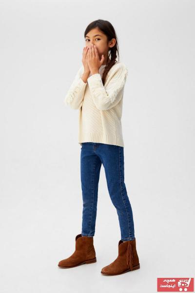 پلیور پلیورک دخترانه برند منگو رنگ بژ کد ty101965372