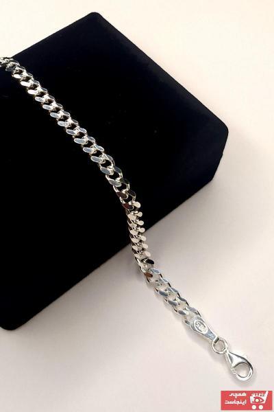 خرید انلاین دستبند جدید مردانه شیک برند ALPHA SİLVER رنگ نقره کد ty102333543
