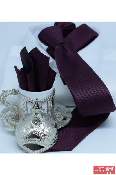 کراوات اینترنتی برند Blazzotti رنگ زرشکی ty102394856