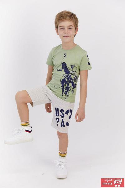 سفارش ست لباس ارزان بچه گانه یو اس پولو رنگ سبز کد ty102817961