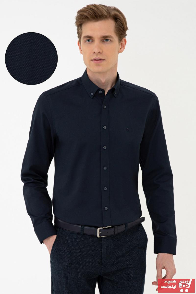 خرید نقدی پیراهن شیک برند پیرکاردن رنگ لاجوردی کد ty102961555