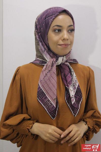 روسری فانتزی برند EŞARP DURAĞI رنگ بنفش کد ty103398522