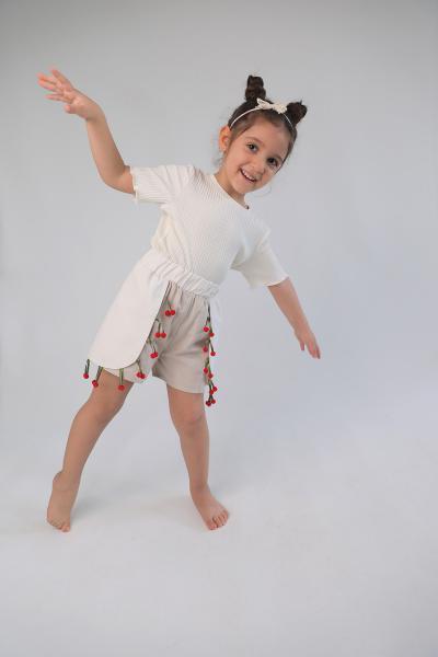 خرید ارزان شورتک فانتزی دخترانه برند Rainbow Kids رنگ بژ کد ty104130599