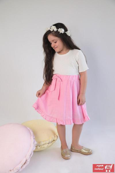 دامن دخترانه با قیمت برند Rainbow Kids رنگ صورتی ty104131369