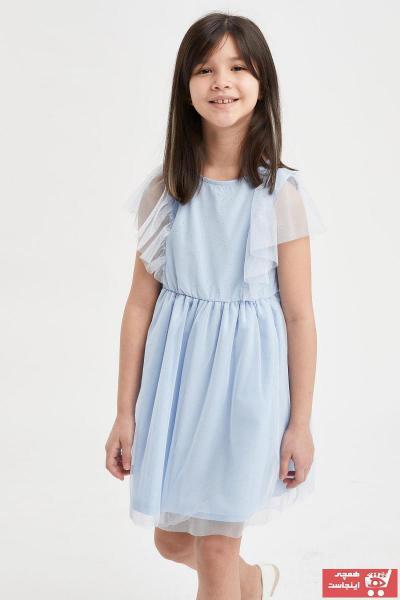 مدل پیراهن دخترانه  برند دفاکتو رنگ آبی کد ty104278129
