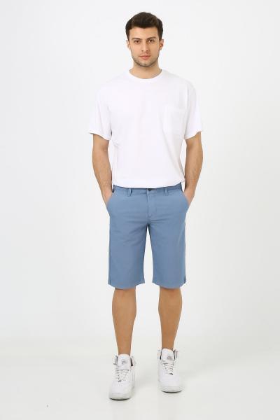خرید پستی شلوارک مردانه پارچه  برند muzzo jeans رنگ لاجوردی کد ty105004806