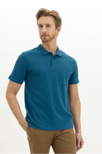 خرید انلاین پولوشرت مردانه طرح دار برند Kiğılı رنگ آبی کد ty105041013