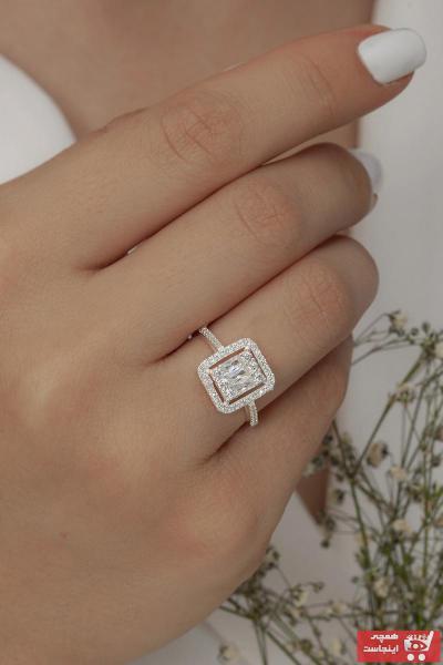 حلقه مدل 2021 برند Tmec Silver رنگ نقره کد ty105568432