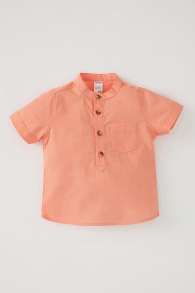 پیراهن نوزاد پسر نگیندار مارک دفاکتو رنگ نارنجی کد ty106219654