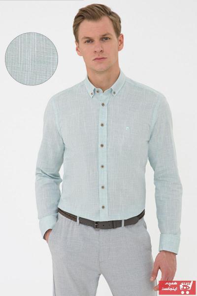 پیراهن مردانه شیک و جدید برند پیرکاردن رنگ نقره ای کد ty106288935