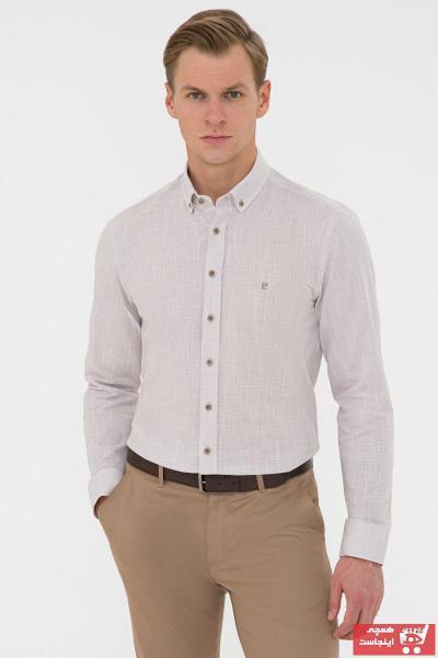 پیراهن مردانه فروشگاه اینترنتی مارک پیرکاردن رنگ بژ کد ty106288936