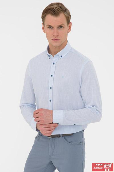 پیراهن مردانه فروشگاه اینترنتی برند پیرکاردن رنگ آبی کد ty106288941