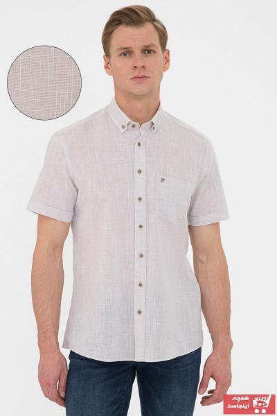 پیراهن مردانه ترک برند پیرکاردن رنگ بژ کد ty106288968