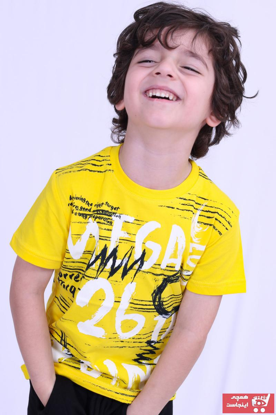 تیشرت طرح دار برند Vanelasse رنگ زرد ty106679263