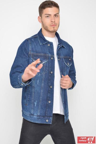 خرید ژاکت لی مردانه شیک برند LTC Jeans رنگ آبی کد ty106719307