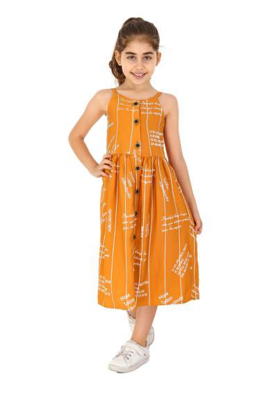 خرید پستی پیراهن دخترانه برند Smile Kids رنگ زرد ty106830601